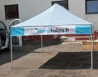 Mainosteltta Hevoskulma.fi 3x4,5m