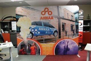 Promotional wall Ahhaa Teaduskeskus