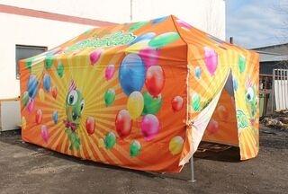 Digipainatettu pop up teltta 3x6m