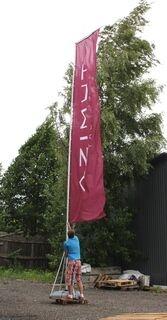 7m korkea mainoslippu
