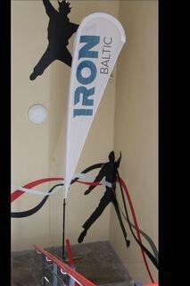 Beach flag Rm  Iron Baltic