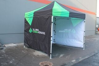 3X3m pop up telttaomilla väreillä