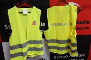 Safety vest with print