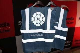 Safety vest with logo