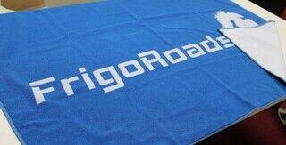 Frigoroads logolla pyyheliina