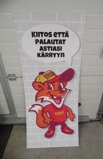 Mainoskyltti ruokakärryille SnadiStadi